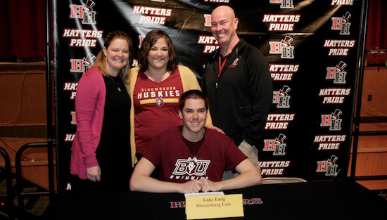 Hatboro horsham 39 s emig to continue swimming career at bloomsburg for Bloomsburg university swimming pool